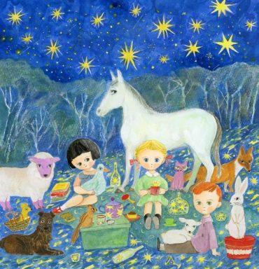 2017年もうひとつの限定版画「星空ピクニック」 11,880円 7/1より予約開始。